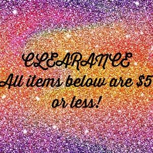 Accessories - CLEARANCE! $3-$5 items! Bundle to save more!